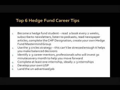 Top 6 Hedge Fund Career Tips   Hedge Fund Group Webinar