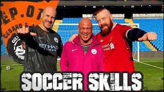 Kurt Angle &amp Cesaro Ep.01 Manchester City Soccer Skills