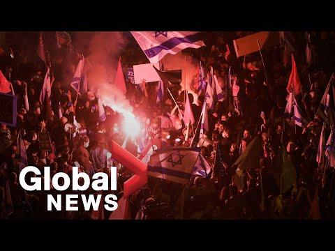 Thousands Protest Benjamin Netanyahu Ahead Of Israel General Election