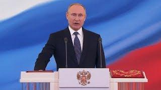 Vladimir putin sworn in for fourth term as russian president | itv news