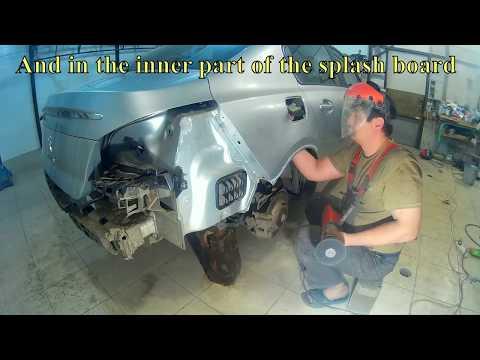 Peugeot 508 Пежо 508 кузовной ремонт в Нижнем Новгороде. Auto body repair.