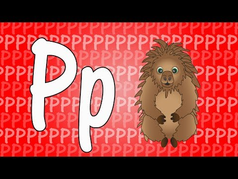 Letter P Song For Kids - Words That Start With P - Animals That Start With P