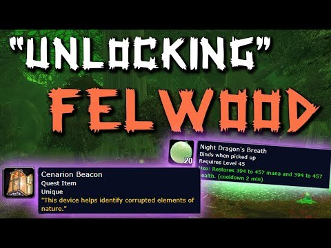 Cleansing Felwood | How To Pick Up Whipper Roots And Night Dragon's | Classic WoW
