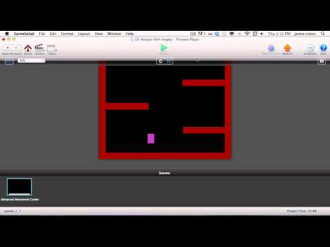 Gamesalad Recipe 004: Advanced Platform Character Movement (featuring double jumping)