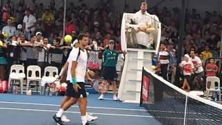 ブリスベン国際テニス2016ダブルスで勝利した瞬間の錦織圭選手