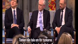 Repeat youtube video 'The Prize for Peace' 2012 - CNN interview with 3 EU leaders