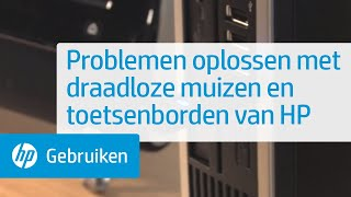Problemen oplossen met draadloze muizen en toetsenborden van HP