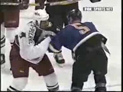 Barret Jackman vs Jean-Luc Grand-Pierre & Scott Mellanby vs Tyler Wright