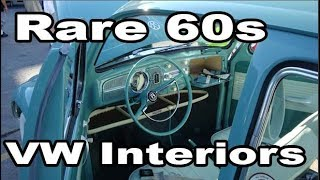 Classic VW BuGs Rare 1960s Beetle Interior Color Combinations info Restoration