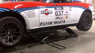 Lifting a low race Miata with a Ranger QuickJack