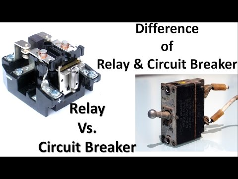 Difference between relay and circuit breaker | Relay Vs. Circuit Breaker