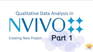NVIVO 10 Creating a new Project