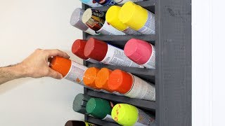 Spray Paint Can Holder Storage Rack