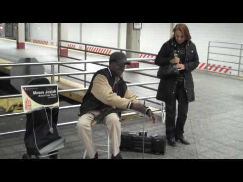 Musical Saw Player at Times Square Subway Station