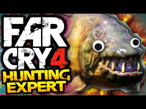 Far Cry 4: Hunting Expert! - #2 - DEMON FISH! - (FC4 Funny Moments)