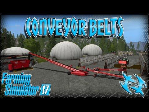 Farming Sim 17 - How to use conveyor belts #xxfastfingersxx -farming simulator 17 - fs 17