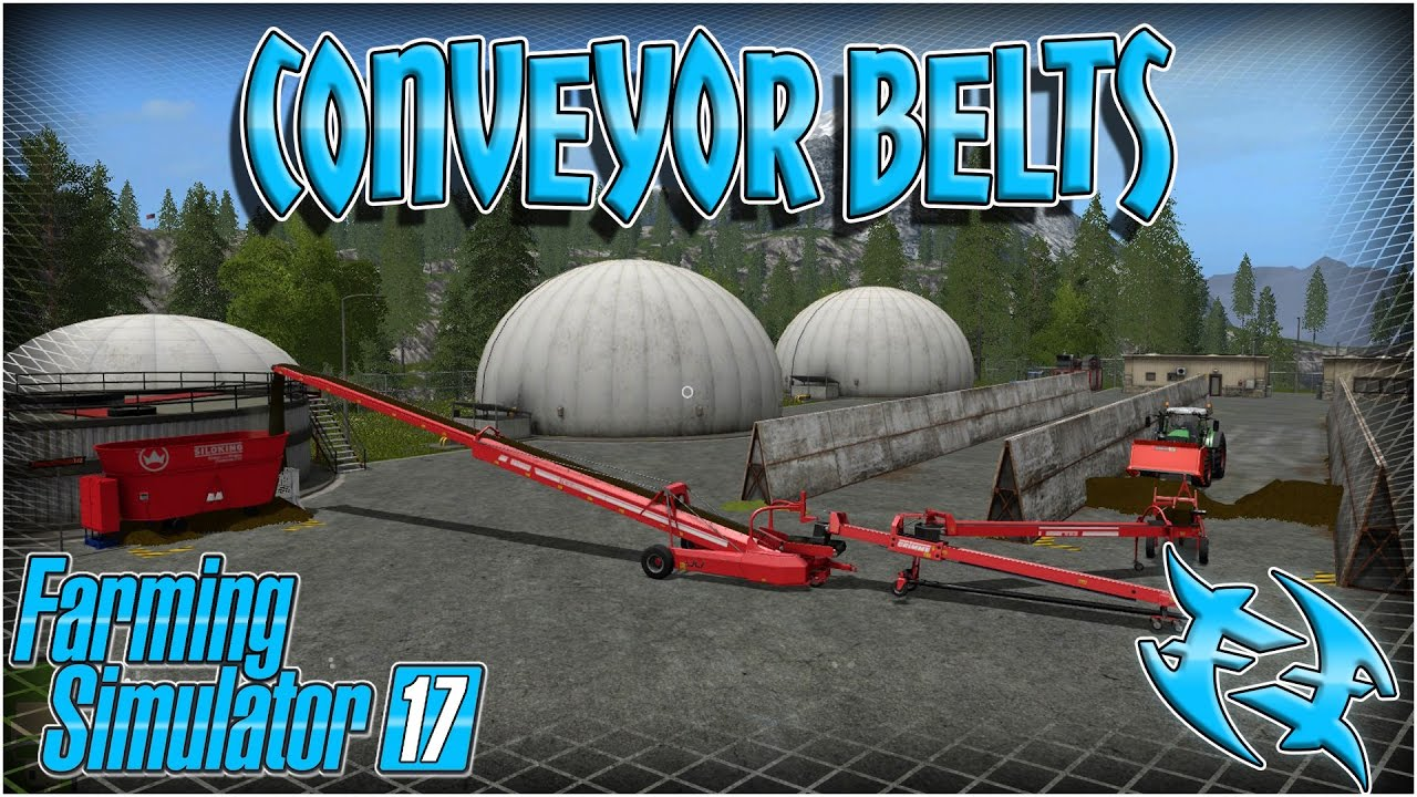 Farming Sim 2017 - How to use conveyor belts #xxfastfingersxx -farming  simulator 17 - fs 17