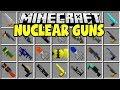 MINECRAFT NUCLEAR GUNS MOD | NUKES, INFINITE DAMAGE, BLACK HOLES!!