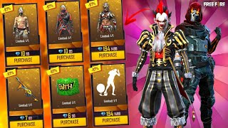 I GOT 90% DISCOUNT ON MYSTERY SHOP 12.0 BUYING ALL RARE BUNDLES & EMOTES & GUN SKIN GARENA FREE FIRE