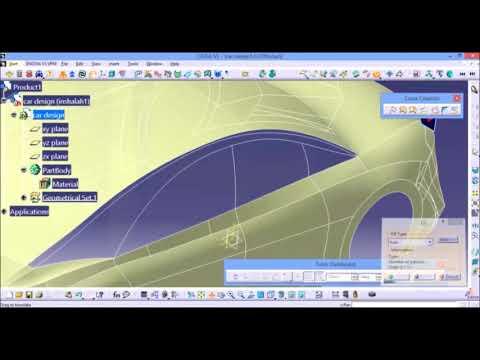 CATIA | car design for beginners | blueprint & surface ...