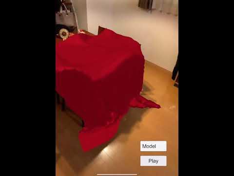Cloth simulation AR with VAT