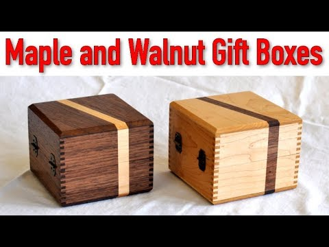 Maple and Walnut Jewelry Box