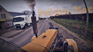 Powrót z pola na Mokrzyn, przejazd przez miasto - URSUS 1224 [ENGINE SOUND]