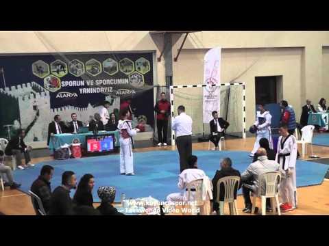 (2008) 55kg Okan Kartal vs Fatih Ata Demirtas (2016 Turkish Junior TKD championships)