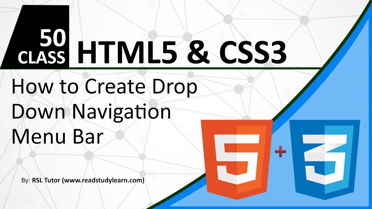 How to Create Drop Down Menu CSS - Best HTML and CSS Practice for creating  drop down navigation bar