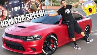 I BROKE THE TOP SPEED IN MY BROTHERS HELLCAT!