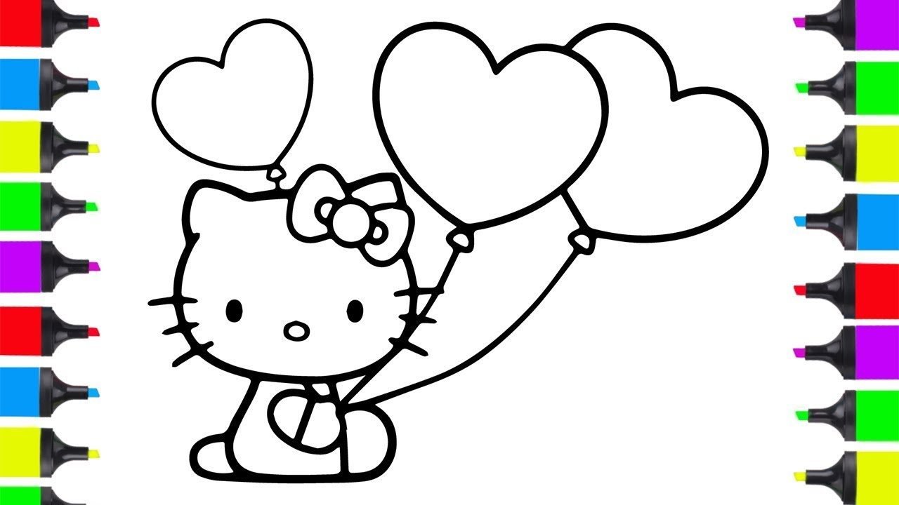 66 Top Hello Kitty Balloons Coloring Pages Download Free Images