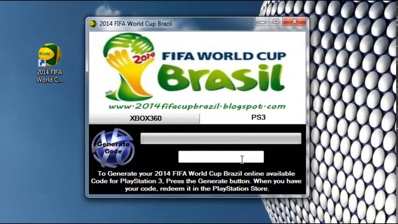 2014 FIFA World Cup Brazil Redeem codes ps3/xbox360