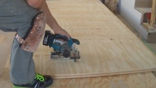 Plywood Subfloor Leveling With Plywood Sheets