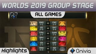 Group Stage Day 4 Full Day Highlights Worlds 2019 By Onivia