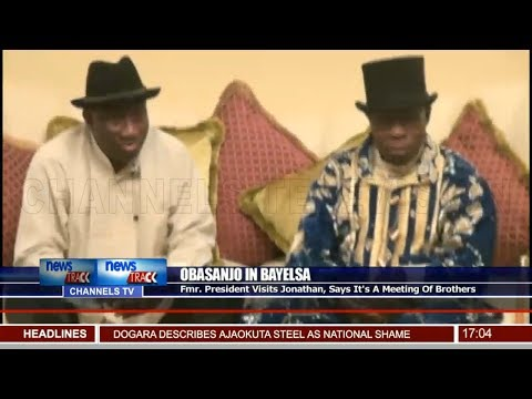Obasanjo Visits Jonathan, Says It's A Meeting Of Brothers