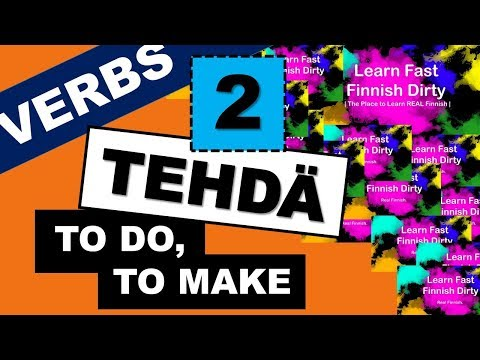 Learn Finnish Verbs | 14 TEHDÄ Part 2 | WHAT ARE YOU DOING? | Learn Finnish Grammar Easy Video