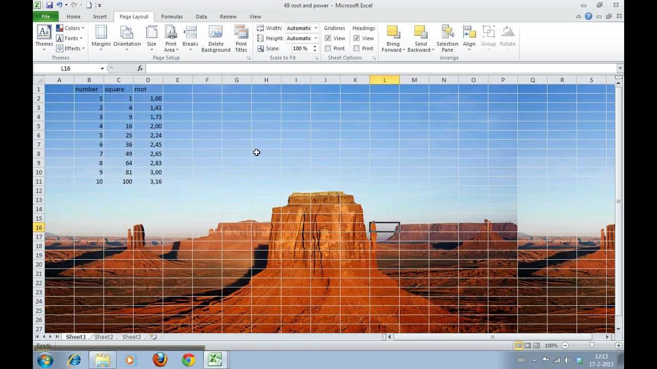 how to insert a background image in excel 2010