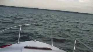 Bayliner 1850 Capri Cuddy Cabin in Huntington Harbor New York - Raw footage
