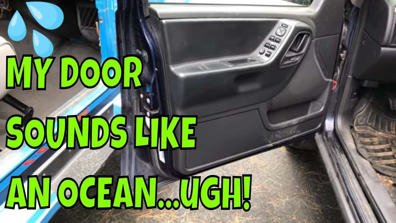 How To Drain Water Out Of A Car Door Youtube