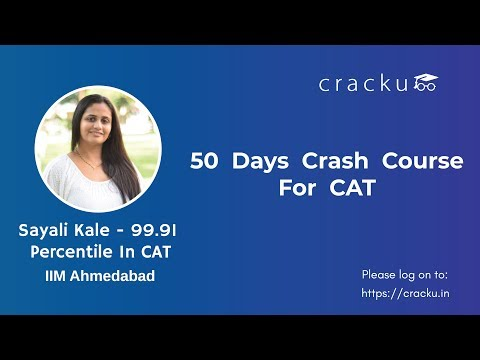 50 Days Study Plan to Crack CAT 2018