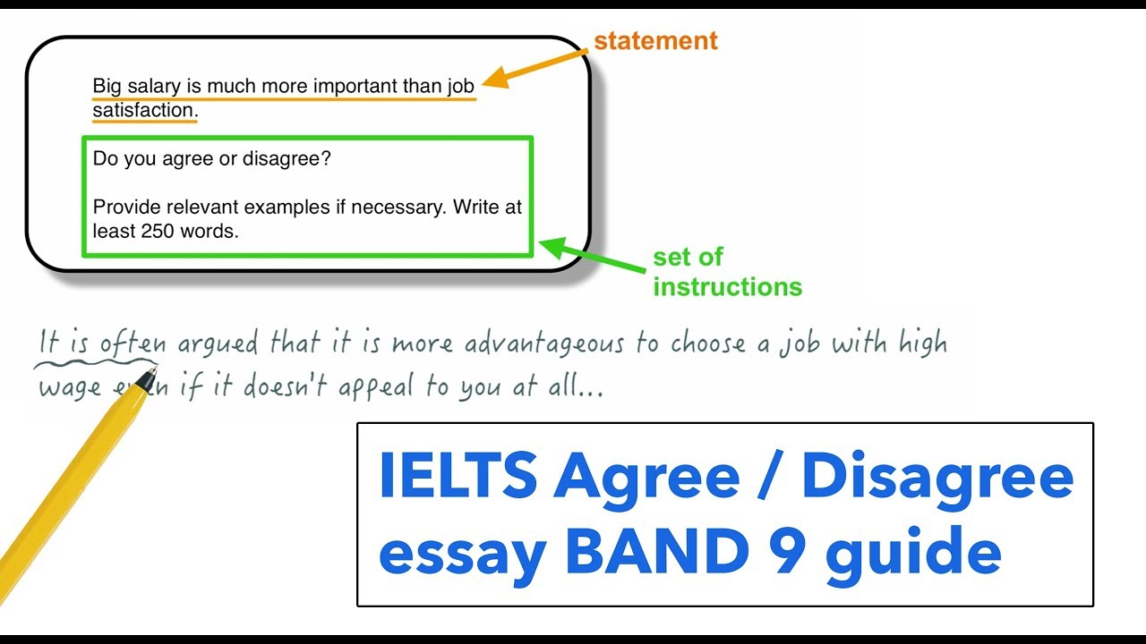 English Literature Essay Structure Ielts Writing Task  Agree Or Disagree Essay Business Etiquette Essay also How To Write A Synthesis Essay Ielts Writing Task  Agree Or Disagree Essay  Youtube High School Sample Essay