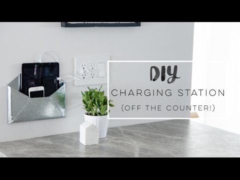 Diy Wall Mount Charging Station Organization Home Decor Challenge