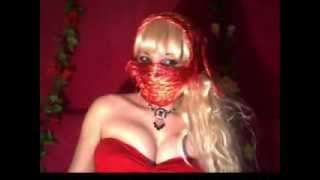 salwa basheer - blond in sexy red with Lebanese song for February 2014