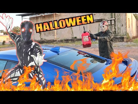 Jason Voorhees Torches My Camaro - Ice Demon Returns to Face Game Masters Halloween Challenge