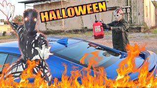 Jason Voorhees Torches My Camaro - Ice Demon Returns to Face Game Masters Halloween Challenge