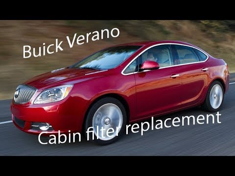 How to replace a 2015 Buick Verano cabin air filter