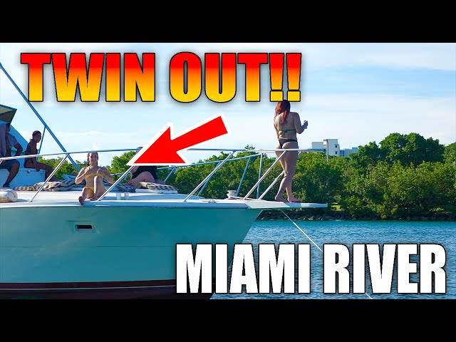 GUESS WHAT?! YESS TWIN OUT FOR THE BOYS!! | MIAMI RIVER | DRONEVIEWHD [ BOATS & YACHTS]