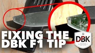 Fixing the Fallkniven F1 Tip, Broken by Dutch Bushcraft Knives