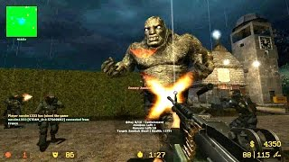 Counter Strike Source Zombie Horde mod online gameplay on Cemetery map