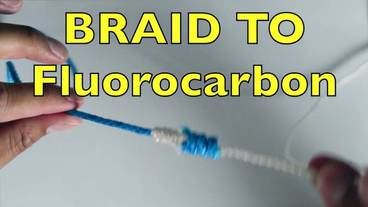 How to tie braided fishing line to monofilament or for Braided fishing line knot
